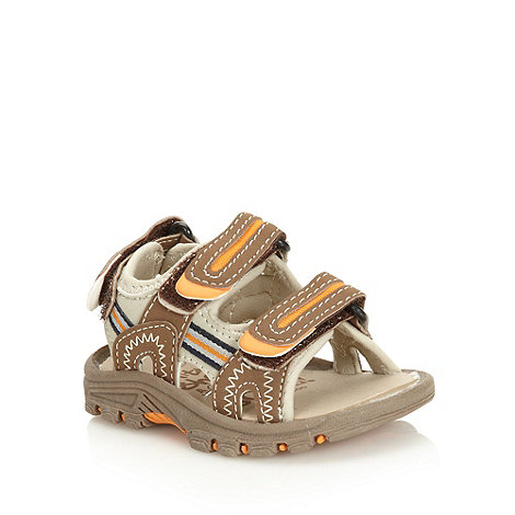 bluezoo - Boy+s brown highlighted strap sandals