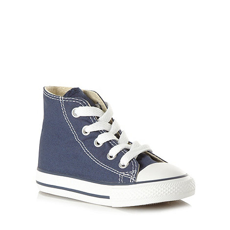 Converse - Children+s navy hi-top trainers