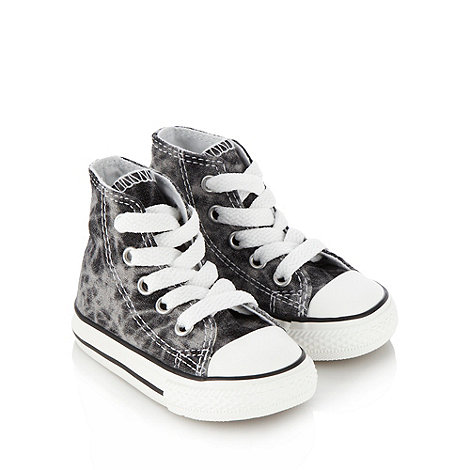 Converse - Boy+s grey hi-top trainers