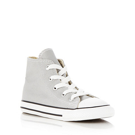 Converse - Boy+s grey +All Star+ hi-top trainers