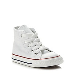 Converse - Boy's white 'All Star' hi-top trainers