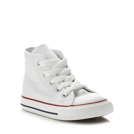Converse - Children+s white +All Star+ hi-top trainers