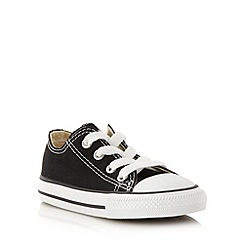 Converse - Children's black 'All Star' canvas trainers