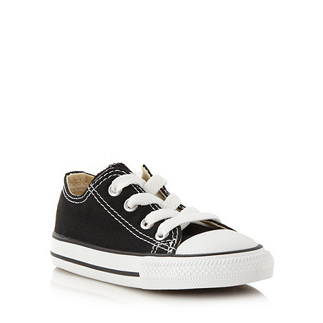 Converse - Children+s black +All Star+ canvas trainers