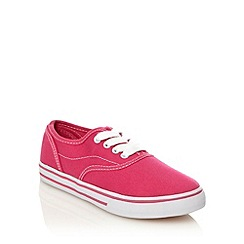 bluezoo - Girl's pink canvas trainers