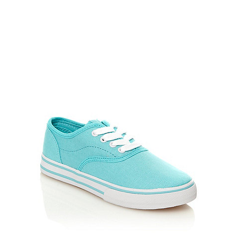 bluezoo - Girl+s aqua canvas trainers