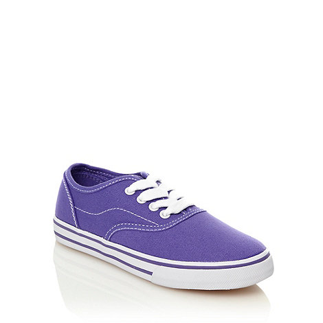 bluezoo - Girl+s purple canvas trainers