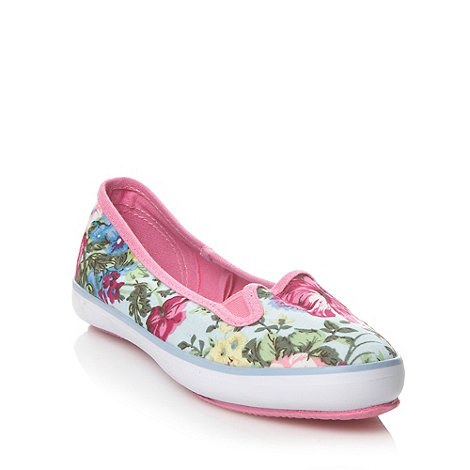 bluezoo - Girl+s pink floral pattern canvas shoes