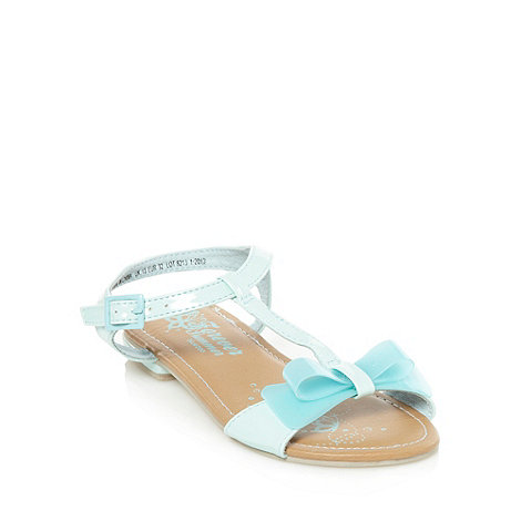 bluezoo - Girl+s aqua jelly bow sandals