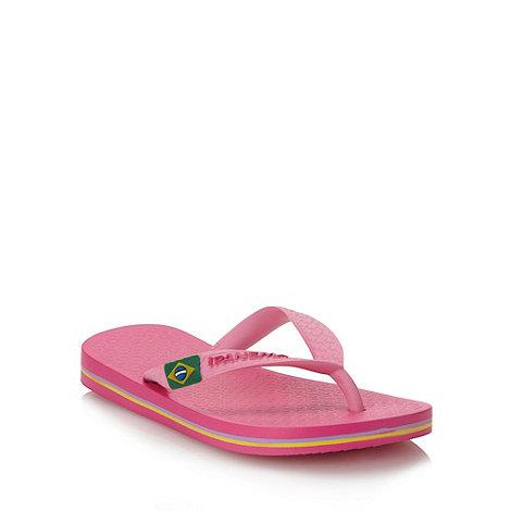 Ipanema - Girl+s pink classic logo flip flops