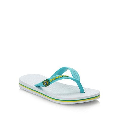 Ipanema - Girl+s green classic logo flip flops