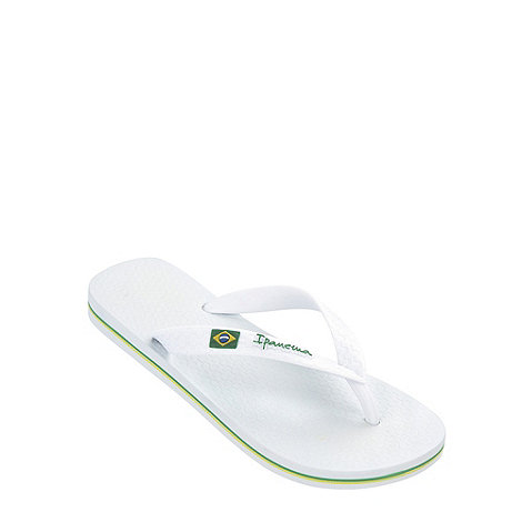 Ipanema - Girl+s white classic logo flip flops