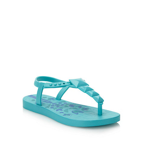 Ipanema - Girl+s turquoise floral printed flip flops