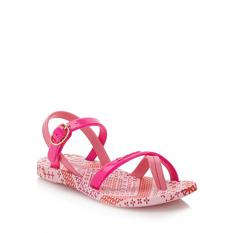 Ipanema - Girl+s pink tile patterned sandals
