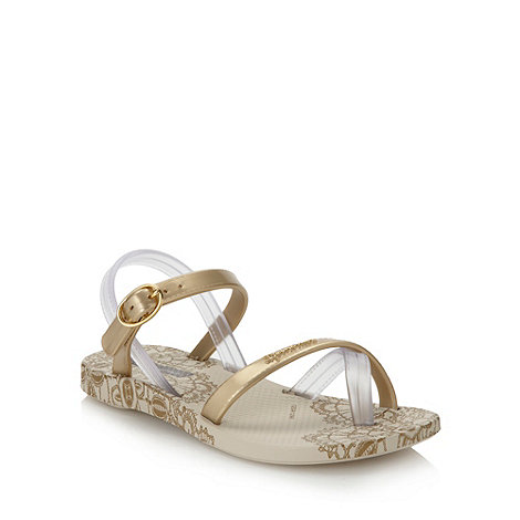 Ipanema - Girl+s gold lace printed sandals