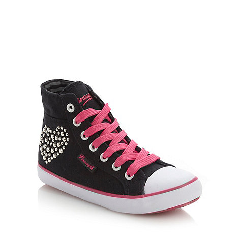 Pineapple - Girl+s black studded high top trainers