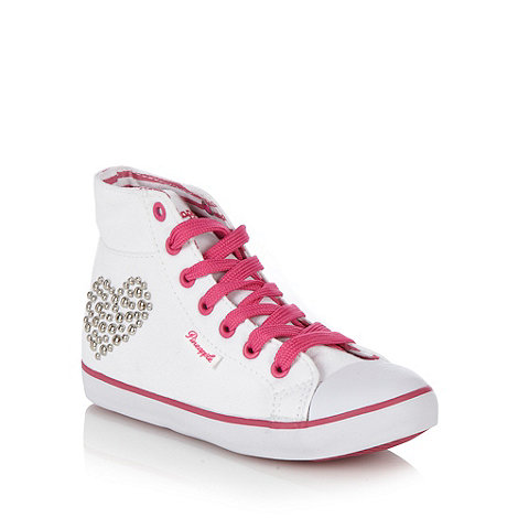 Pineapple - Girl+s white studded high top trainers