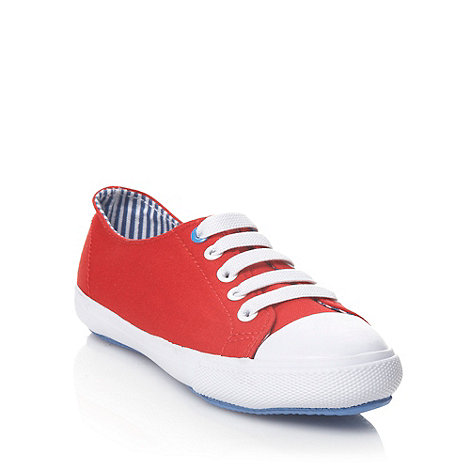 bluezoo - Children+s red canvas trainers