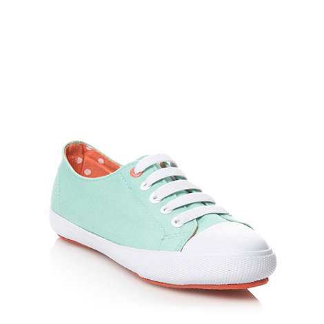 bluezoo - Girl+s pale green canvas trainers