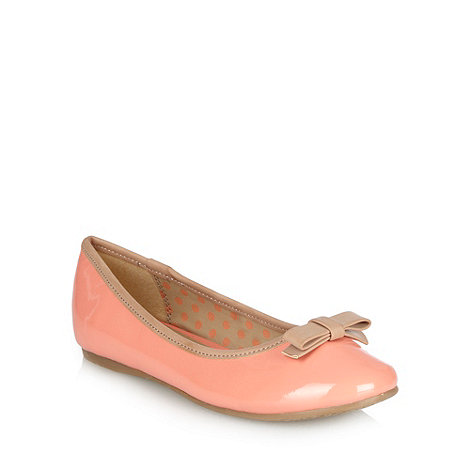 bluezoo - Girl+s peach bow trimmed pumps