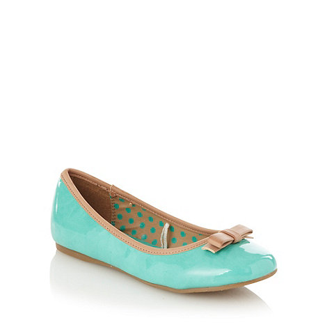 bluezoo - Girl+s turquoise bow pumps