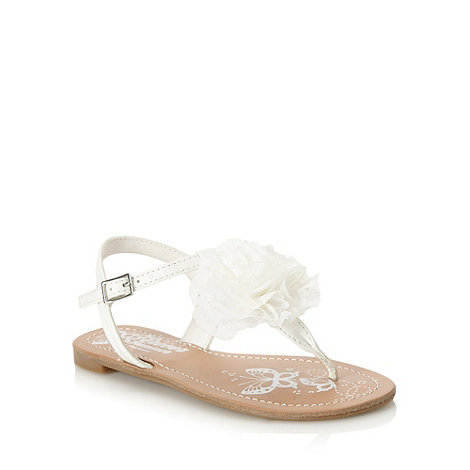 bluezoo - Girl+s white cut out corsage sandals