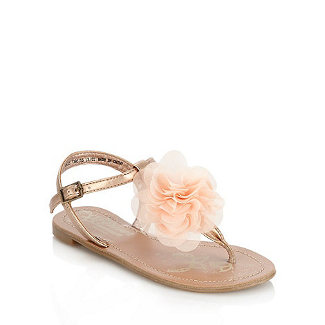 bluezoo - Girl+s bronze applique flower sandals
