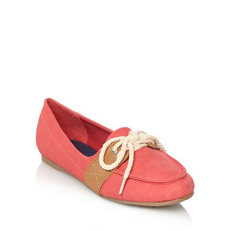 bluezoo - Girl+s red boat shoes