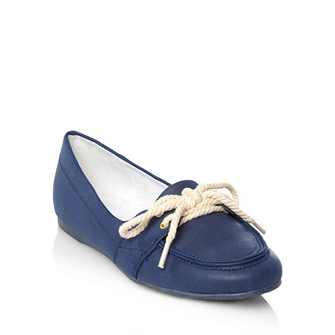 bluezoo - Girl+s navy boat shoes