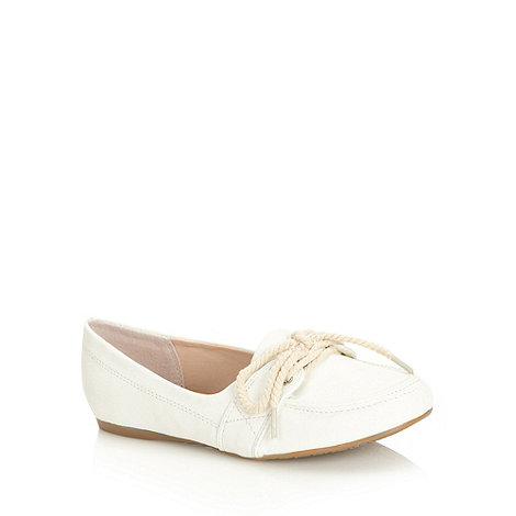 bluezoo - Girl's white boat shoes