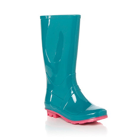 bluezoo - Girl+s turquoise wellington boot