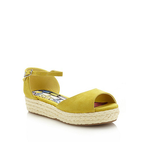 bluezoo - Girl+s yellow espadrille wedge sandals