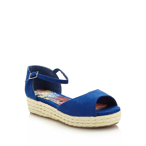 bluezoo - Girl+s blue espadrille wedge sandals