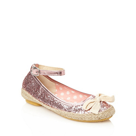 bluezoo - Girl+s pink glitter espadrilles