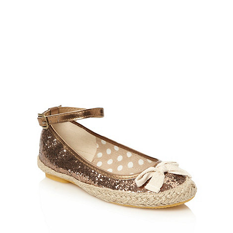 bluezoo - Girl+s gold glitter espadrilles