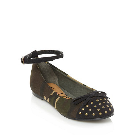 bluezoo - Girl+s dark green camouflage pumps
