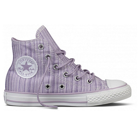 Converse - Girl+s Lilac High Top Eyelet Trainers