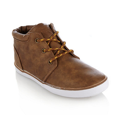 bluezoo - Boy's tan faux leather boots