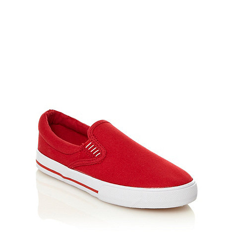 Mantaray - Boy+s red slip on shoes