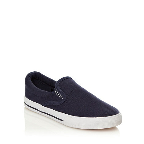 Mantaray - Boy+s navy slip on shoes