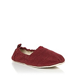 bluezoo - Boy's red plain slip-on shoes