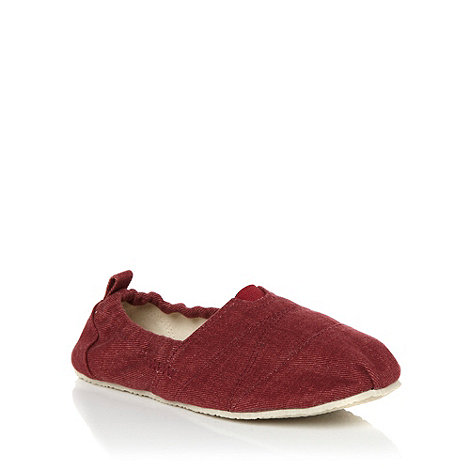 bluezoo - Boy+s red plain slip-on shoes
