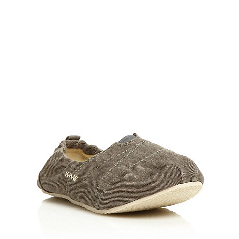 bluezoo - Boys+ grey canvas slip-on shoes