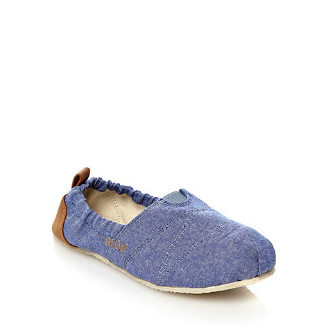 bluezoo - Boy+s blue chambray espadrilles