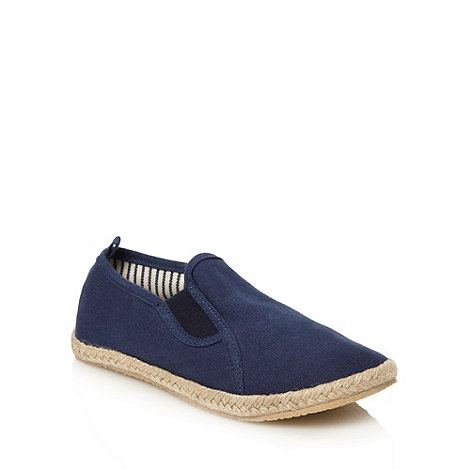 bluezoo - Children+s navy canvas espadrilles