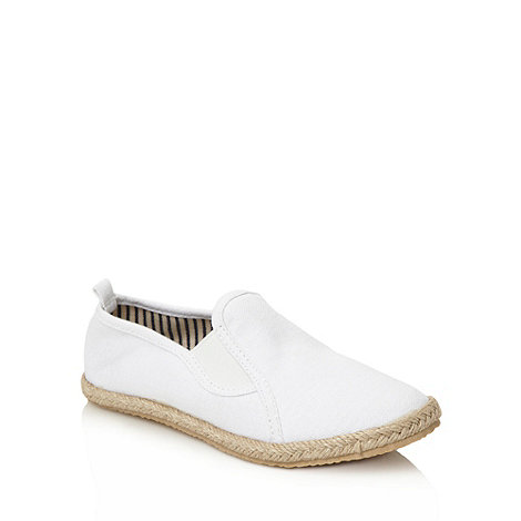 bluezoo - Children+s white canvas espadrilles