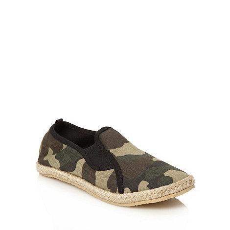 bluezoo - Boy+s khaki camouflage espadrilles