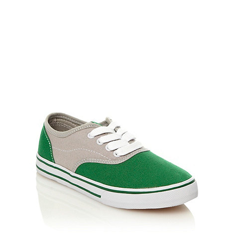 bluezoo - Boy+s green colour block trainers