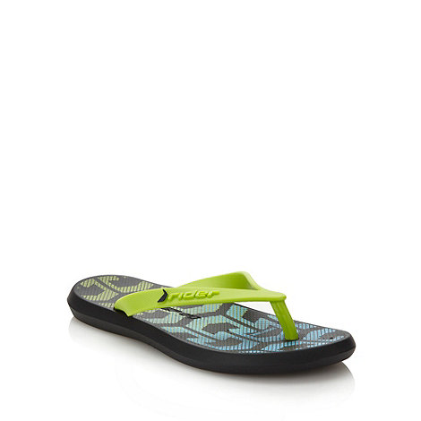 Rider - Boy+s green graduating patterned flip flops