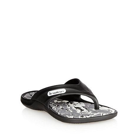 Rider - Boy+s black flip flops